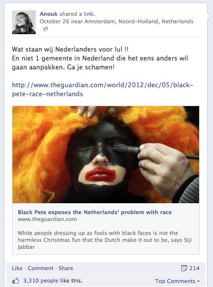 Anouk op Facebook